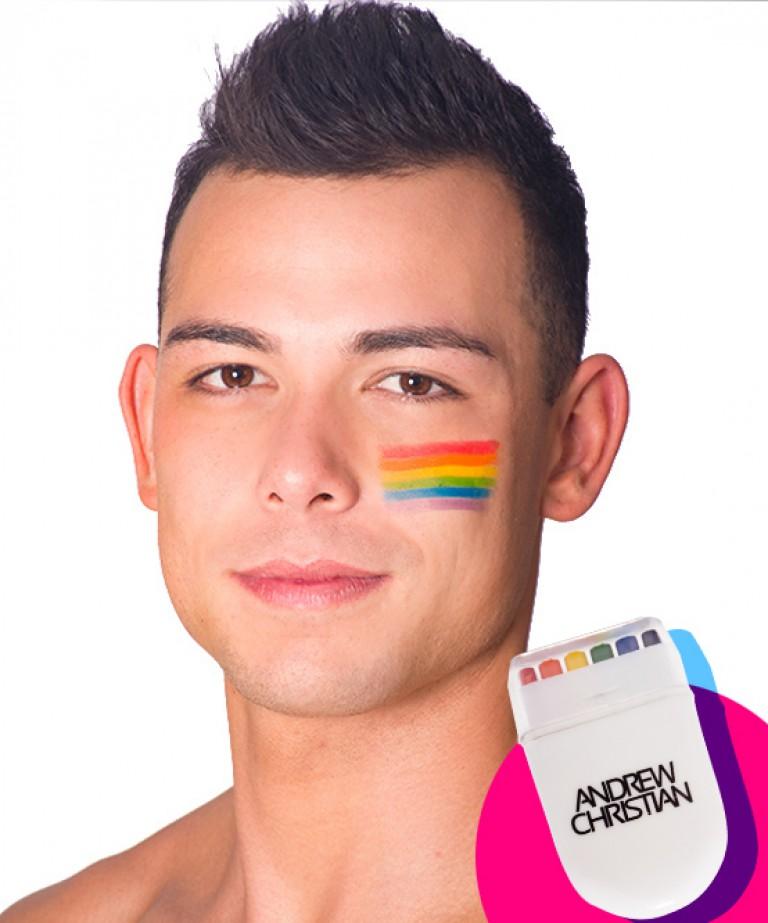 Pride Rainbow Face Paint