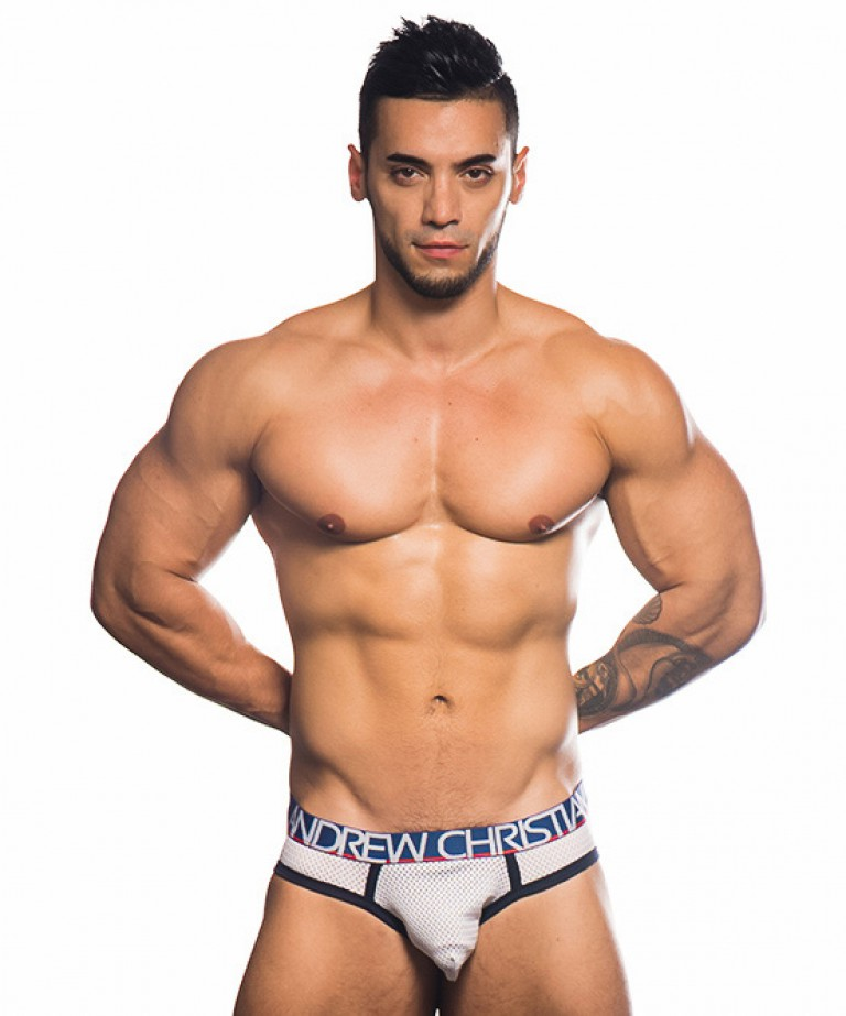 Athletic Mesh Brief w/ Almost Naked
