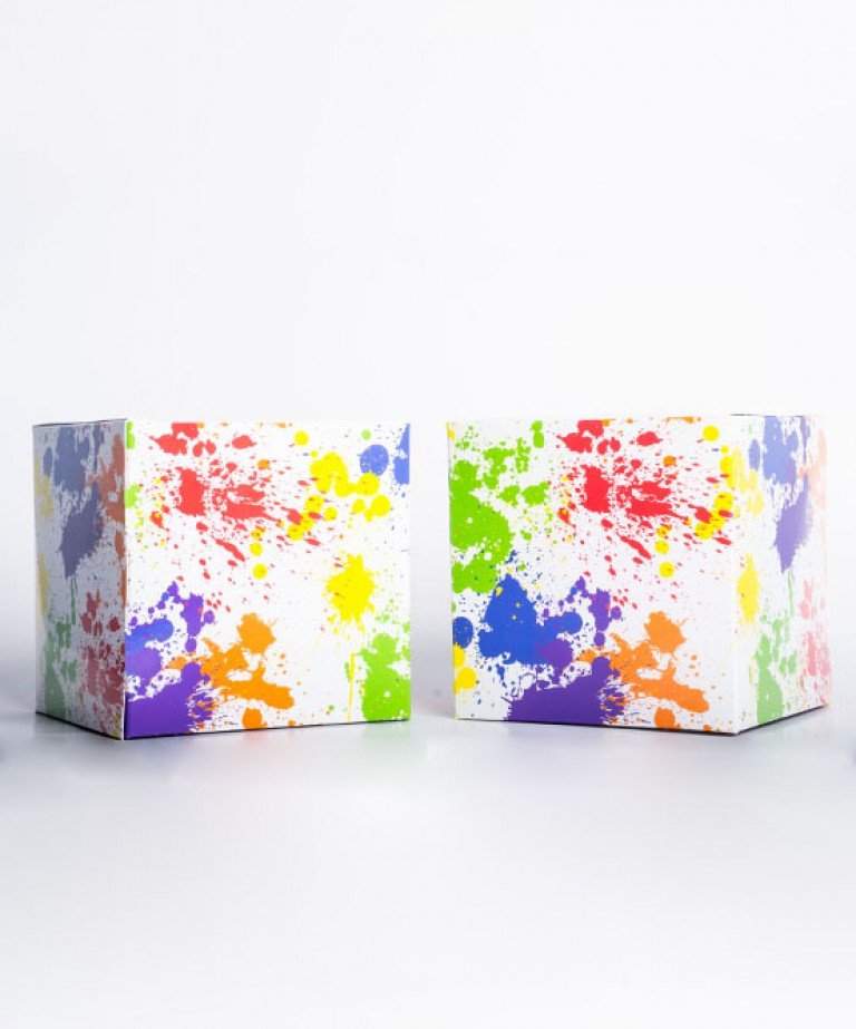 Rainbow Pride Splatter Gift Box