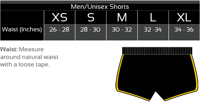 Sizing Chart Shorts