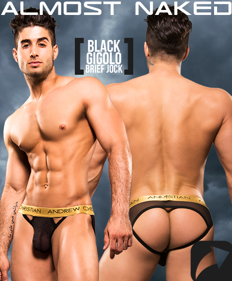 GLOW POP SPORTS BRIEF W/ ALMOST NAKED