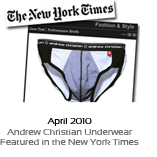 April 2010 - Andrew Christian Underwear Featured in the New York Times