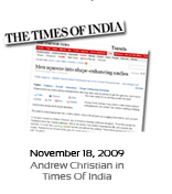 November 18, 2009 - Andrew Christian in Times Of India