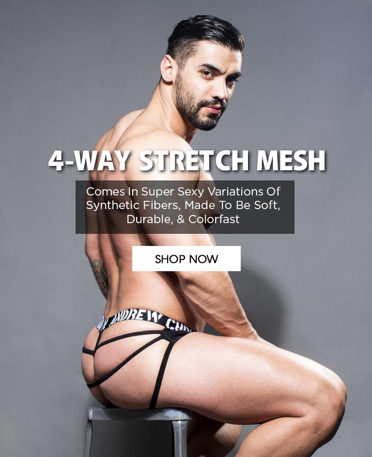 Slide 4-WAY STRETCH MESH - Super Sexy Variations Of Synthetic Fibers