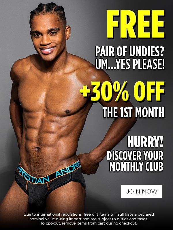 Promo Curated Clubs - Free Undies + 30% Off 1st Month