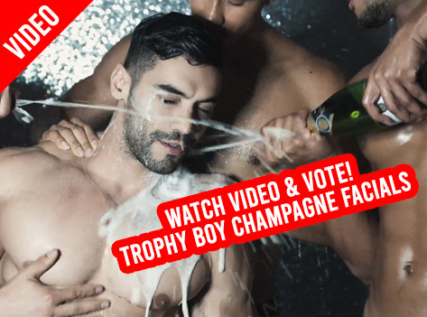 Slide Trophy Boy Champagne Facials