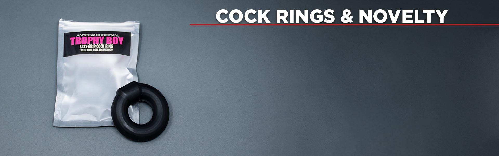 Cock Rings & Novelty - NEW