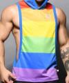 Ultra Pride Laurel Mesh Hoodie Gym Tank Thumbnail 5