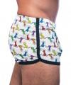 Rainbow Pride Lights Mesh Jogger Shorts Thumbnail 5