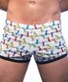 Rainbow Pride Lights Mesh Jogger Shorts Thumbnail 4