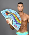 "Out & Proud Rainbow Large Thunder Clap Fan (25"") Thumbnail 2"