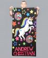 Disco Pride Unicorn Beach Towel Thumbnail 1