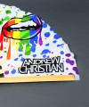 """Pride Lips LARGE Clap Fan (25"""") Thumbnail 4"""