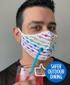 Safer Outdoor Dining Pride Love Mask Thumbnail 2