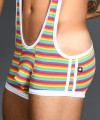 Pride Rainbow Stripe Singlet w/ Almost Naked Thumbnail 6