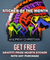 Graffiti Pride Hearts Sticker Thumbnail 2