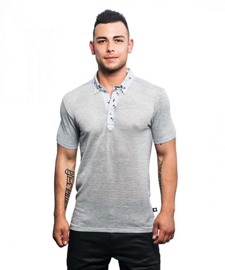 California Palms Mesh Polo