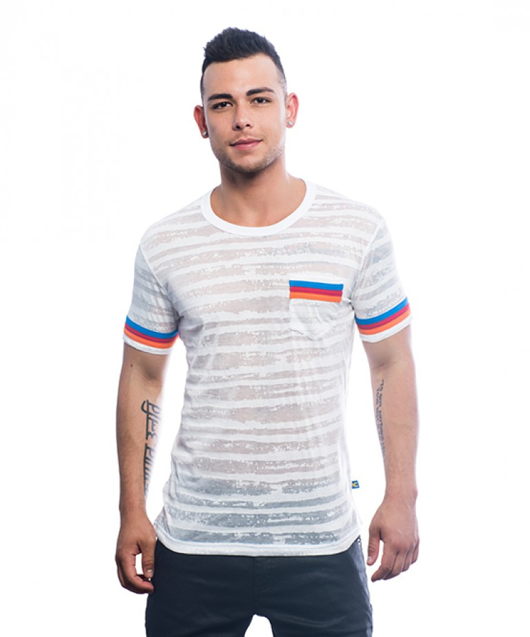 California Burnout Stripe Tee