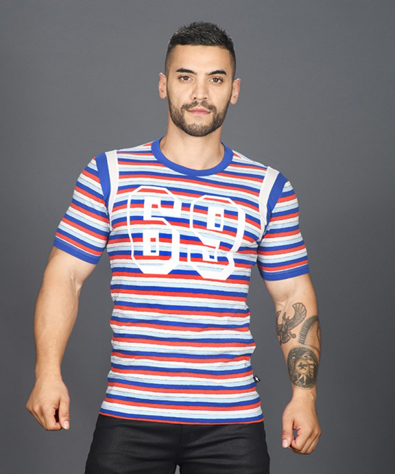 69 Madison Stripe Athletic Tee