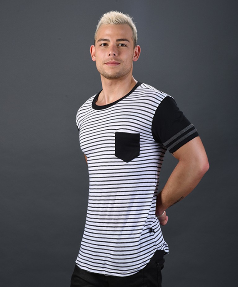 League Pocket Stripe Tee