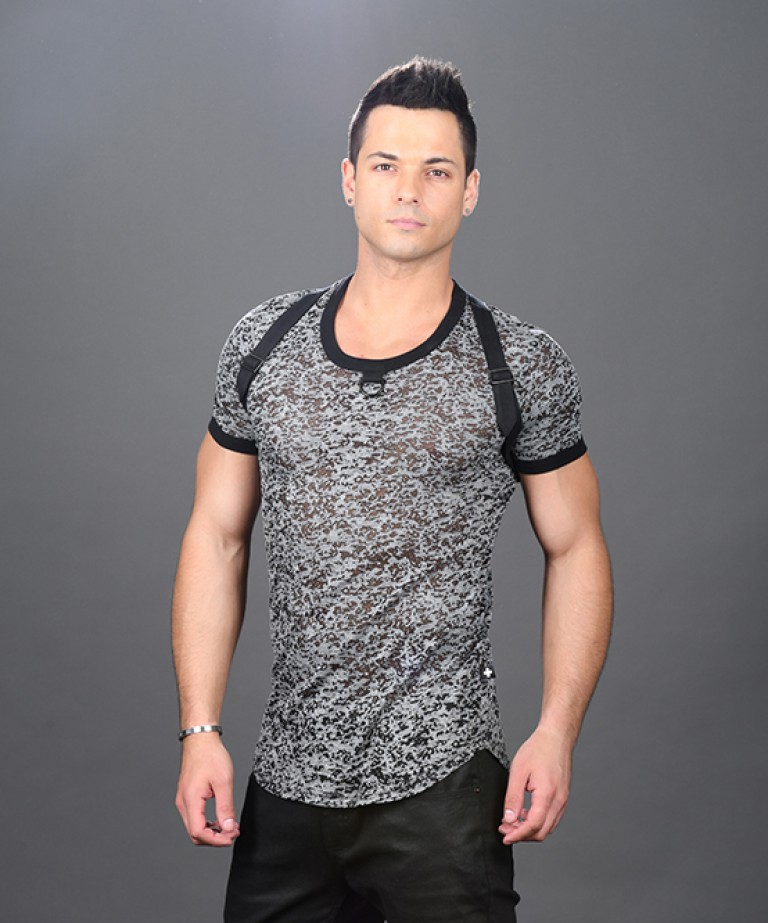 Hardware D-Ring Burnout Harness Tee