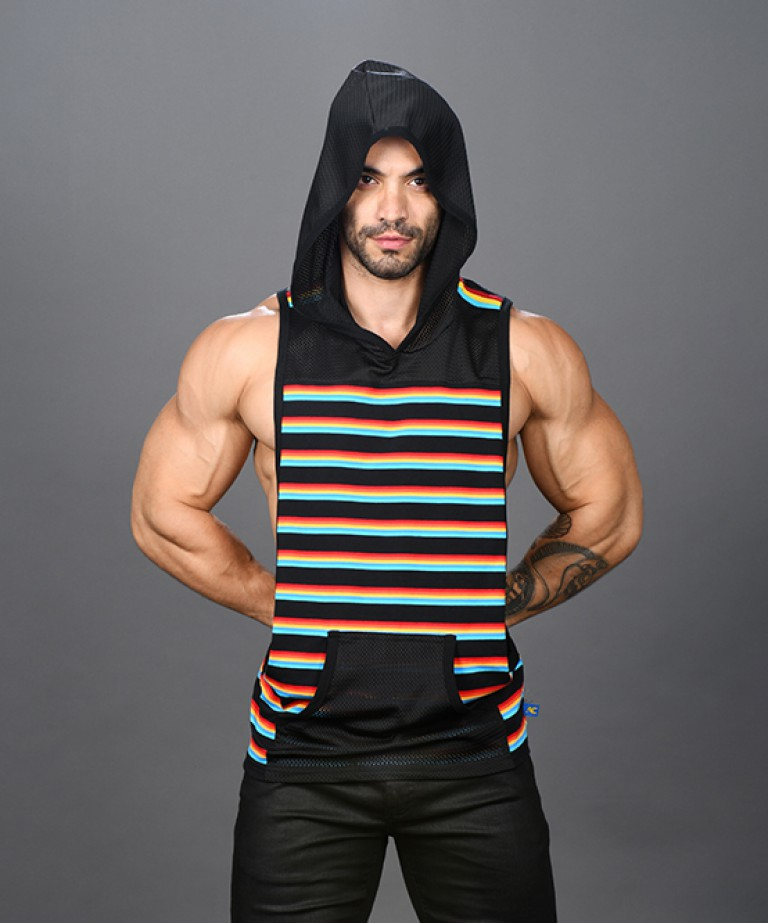 California Stripe Venice Mesh Gym Tank