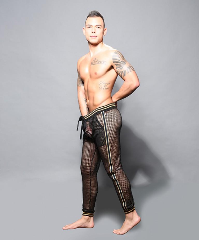 Slick Mesh Jogger Pants