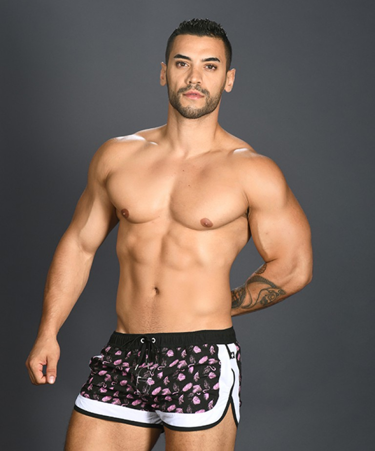 Tropical Flamingo Swim Shorts