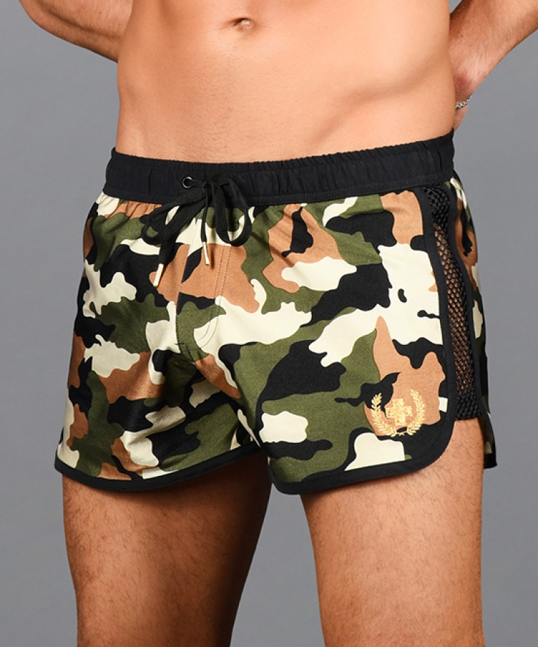 Commando Mesh Gold Laurel Swim Shorts