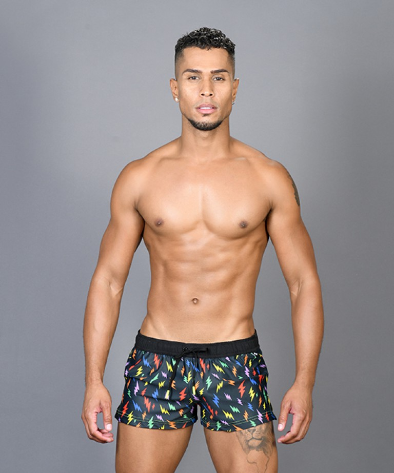Rainbow Lightning Swim Shorts