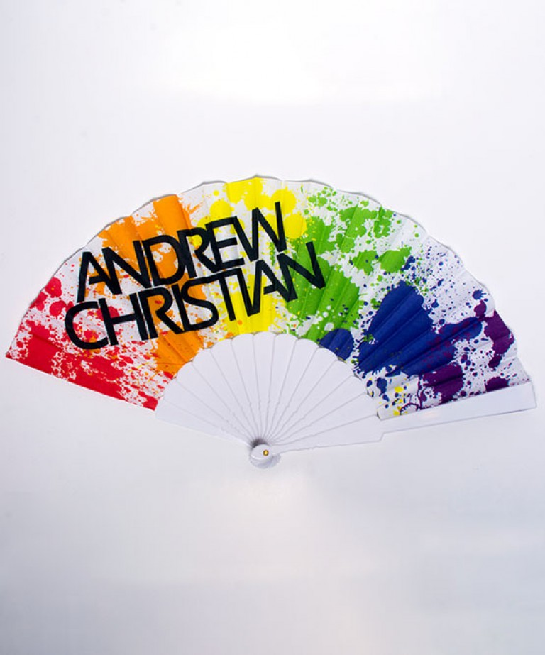 Pride Rainbow Fan