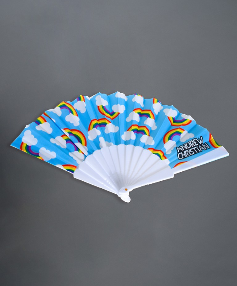 "Pride Rainbow 16"" Fan"