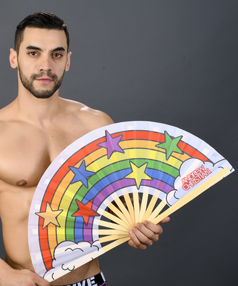 "Large 25"" Pride Clack Fan"