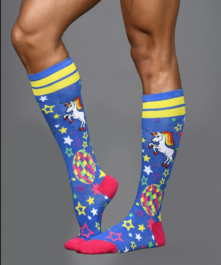 Disco Unicorn Rainbow Star Socks
