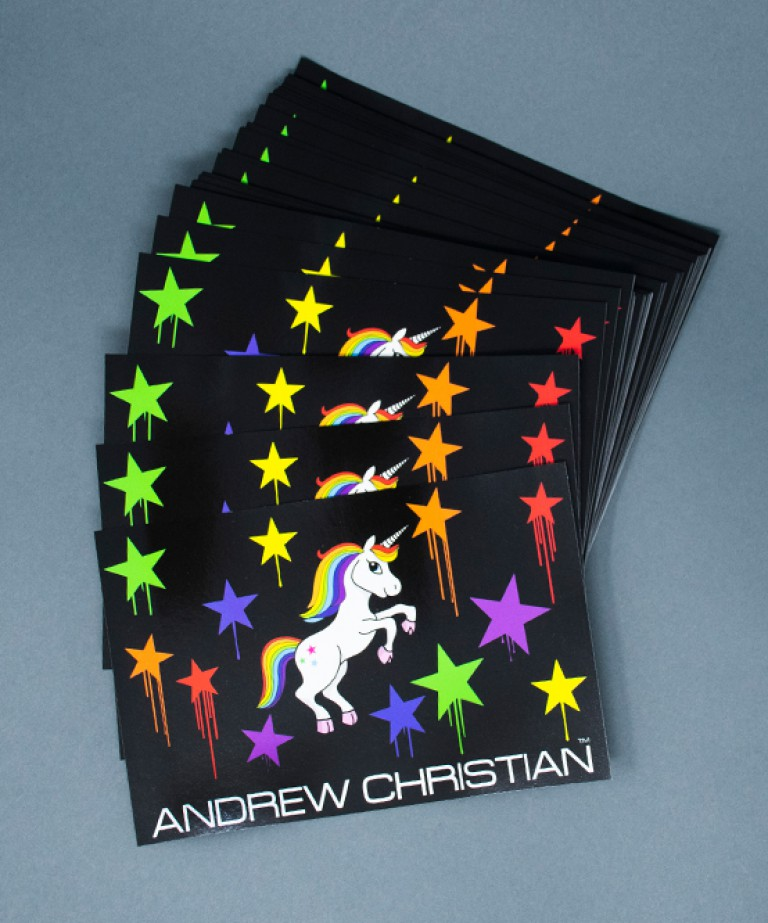 Unicorn Rainbow Star Sticker