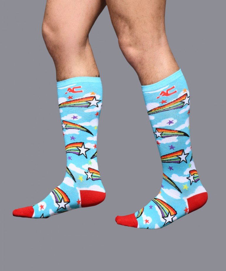 Pride Shooting Star Socks