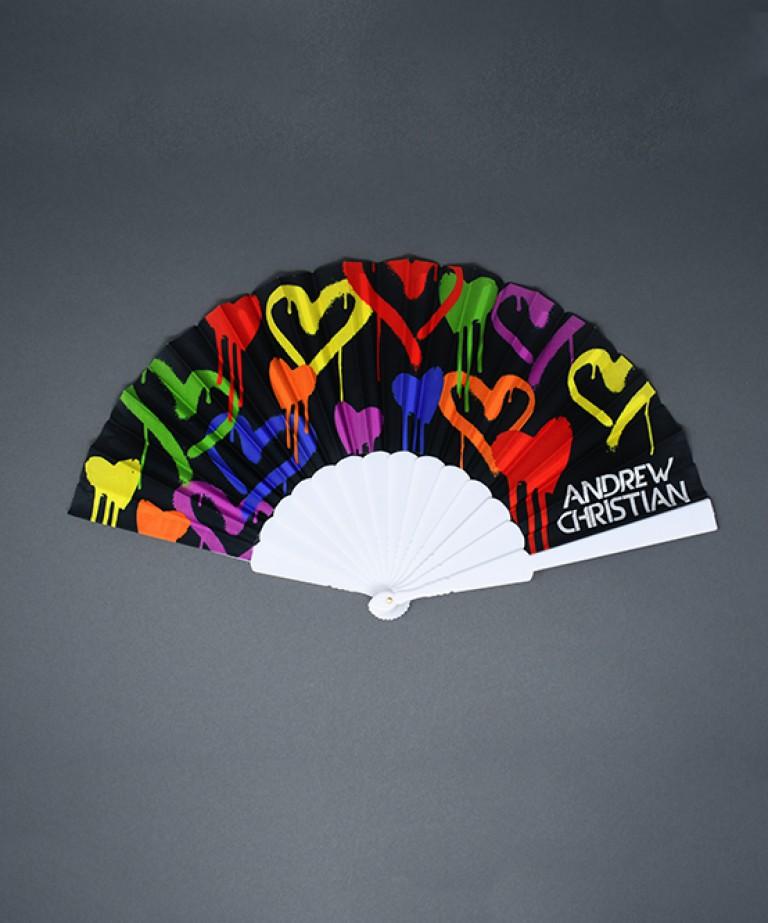 """Graffiti Heart Fan (16"""")"""