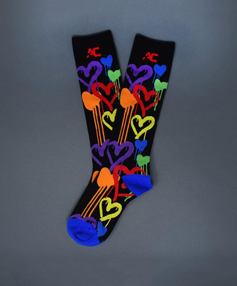 Graffiti Heart Socks