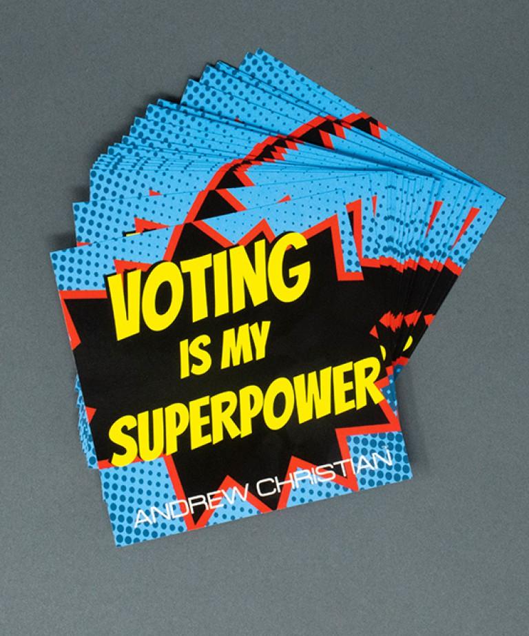 Voting Is My Superpower Sticker