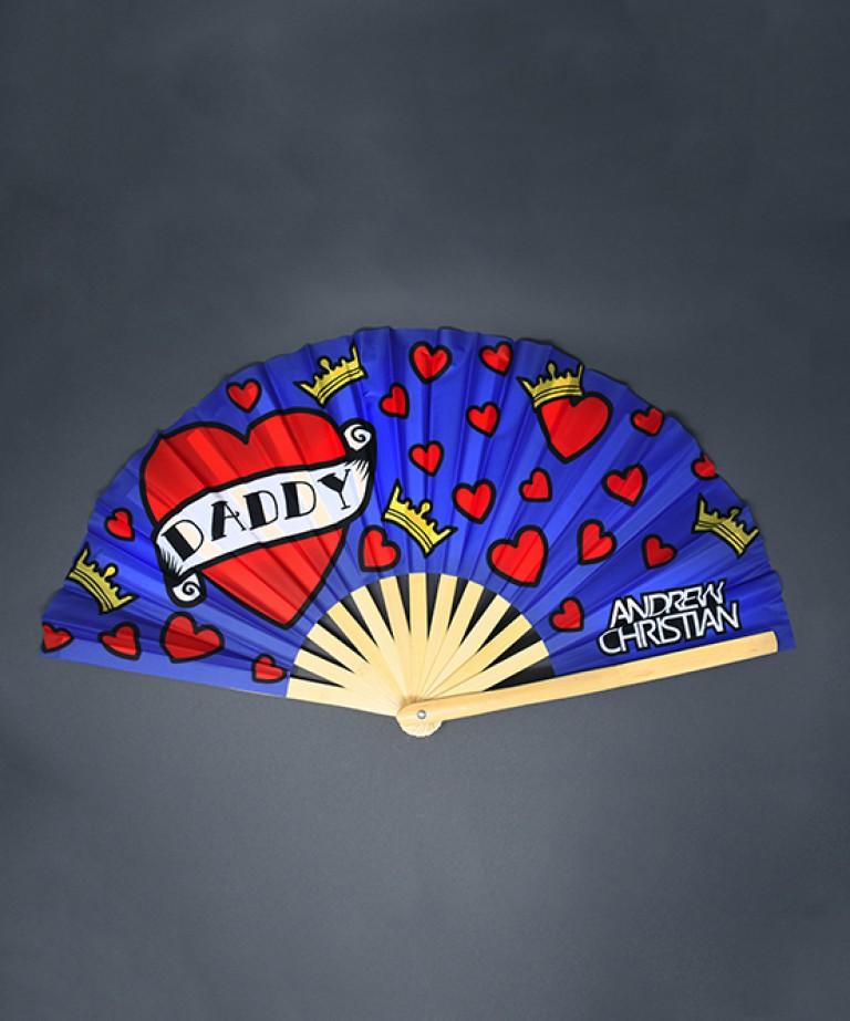 """Daddy Love LARGE Clap Fan (25"""")"""
