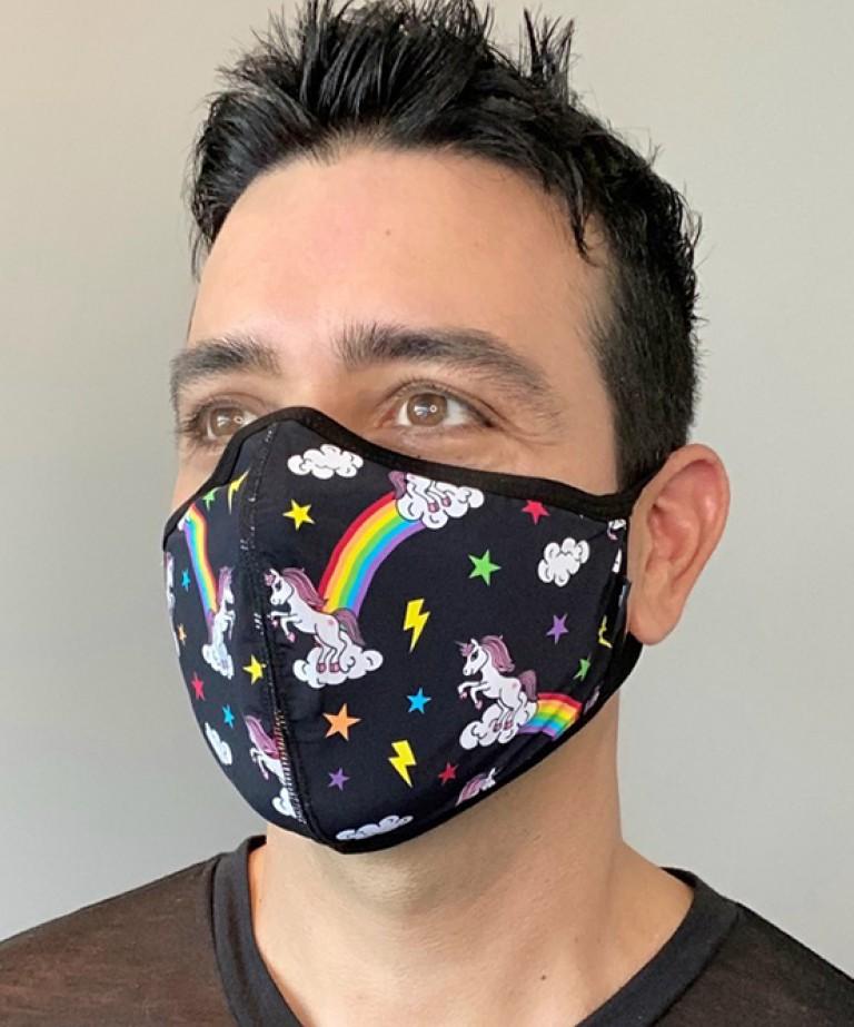 Rainbow Unicorn Glam Mask