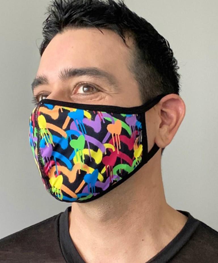Graffiti Heart Glam Mask