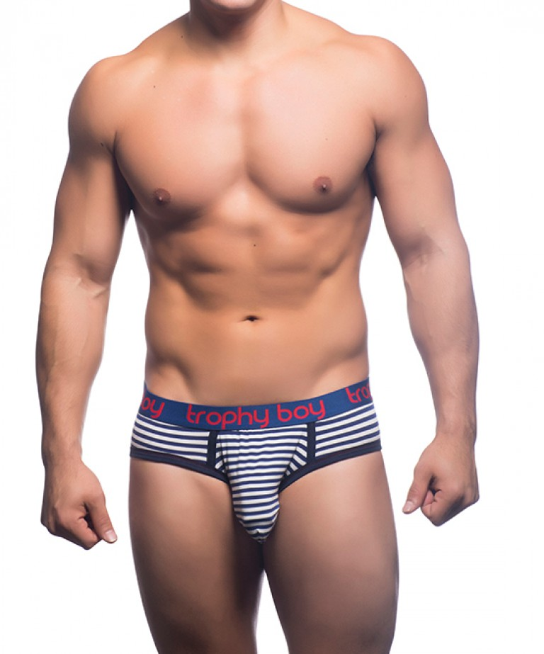 Trophy Boy Nautical Stripe Brief