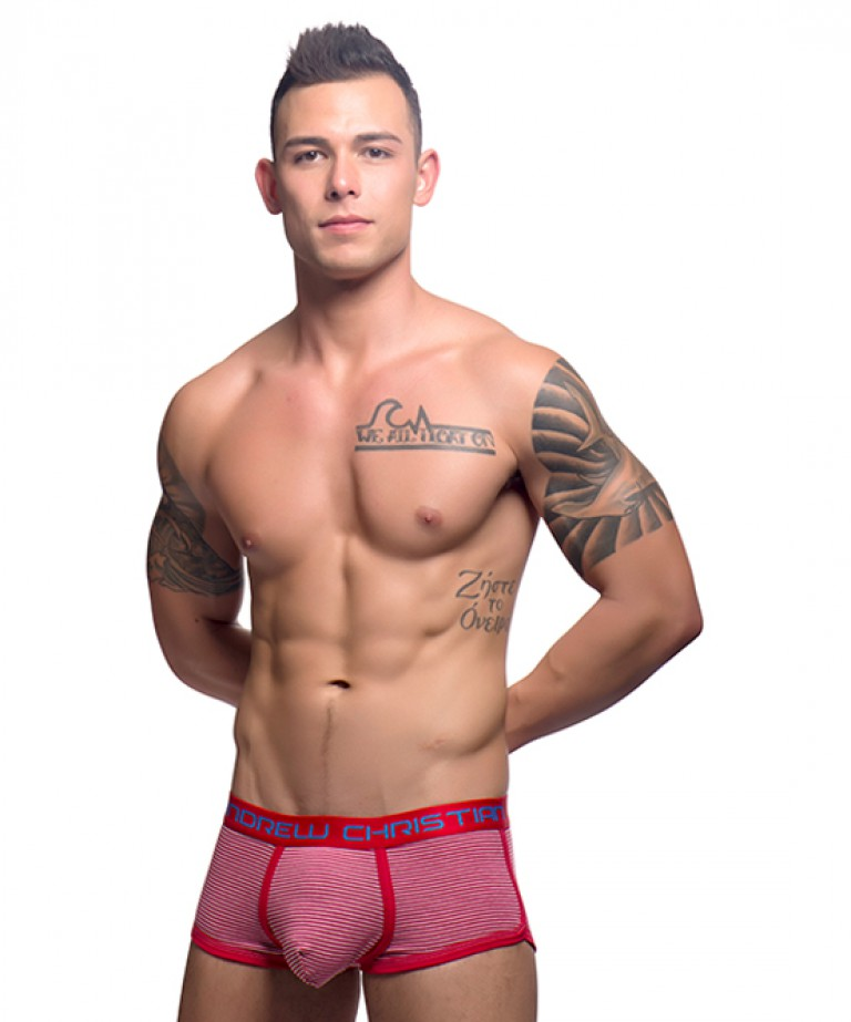 Campus Stripe Boxer w/ Almost Naked