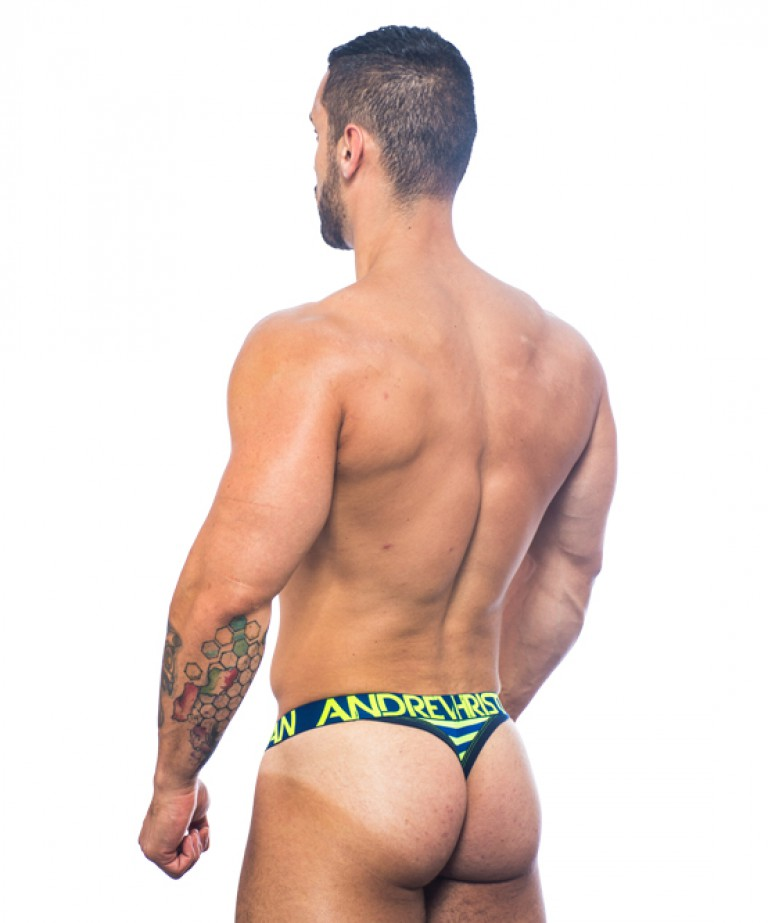 Almost Naked Electric Stripe Thong