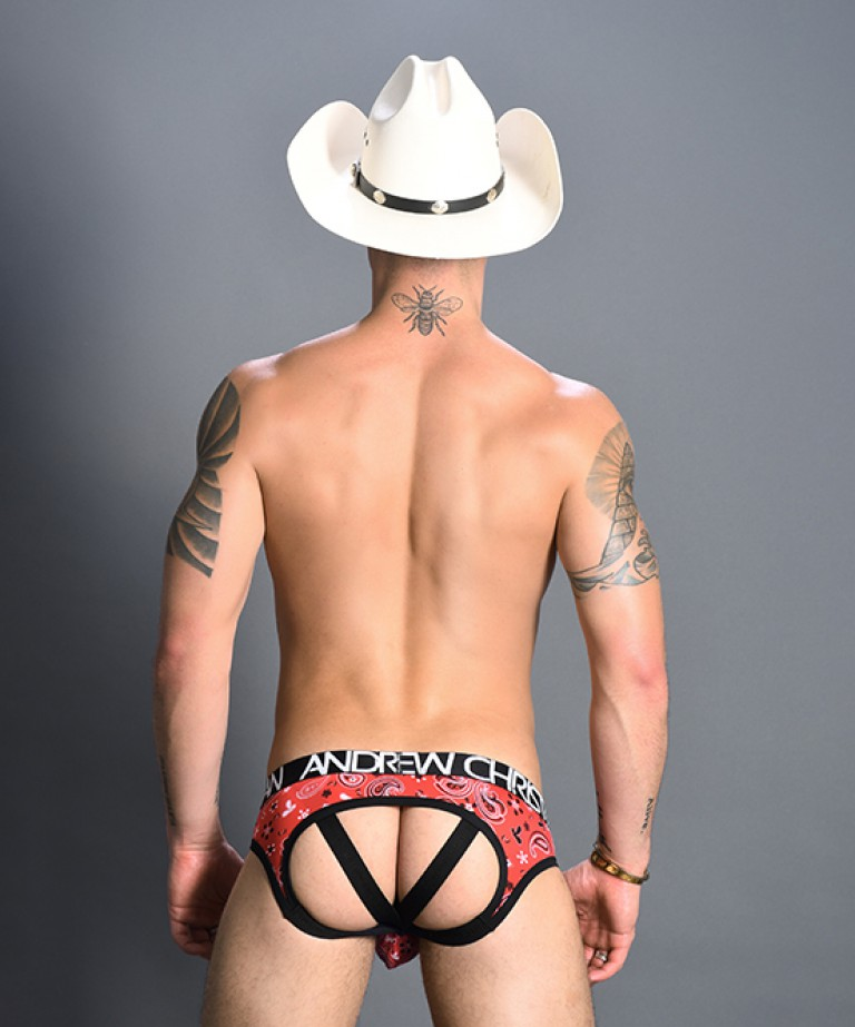 Bandanna Bubble Butt Jock w/ Almost Naked