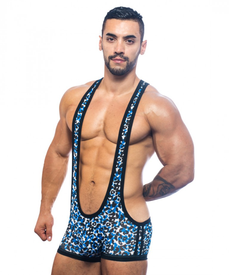 Midnight Animal Mesh Singlet w/ Almost Naked