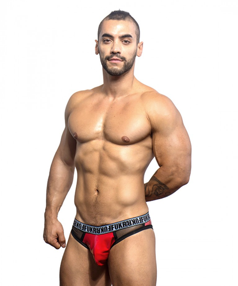 FUKR Gloss Locker Room Jock (w/ Gigolo Mesh)