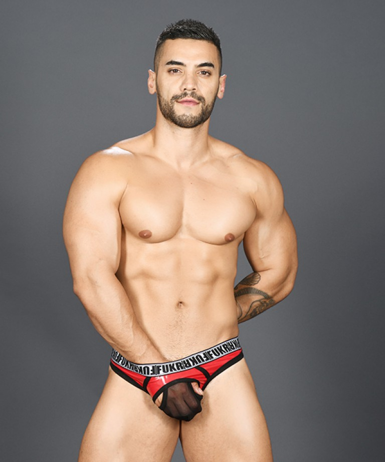 FUKR Gloss Air Thong (w/ Gigolo Mesh)