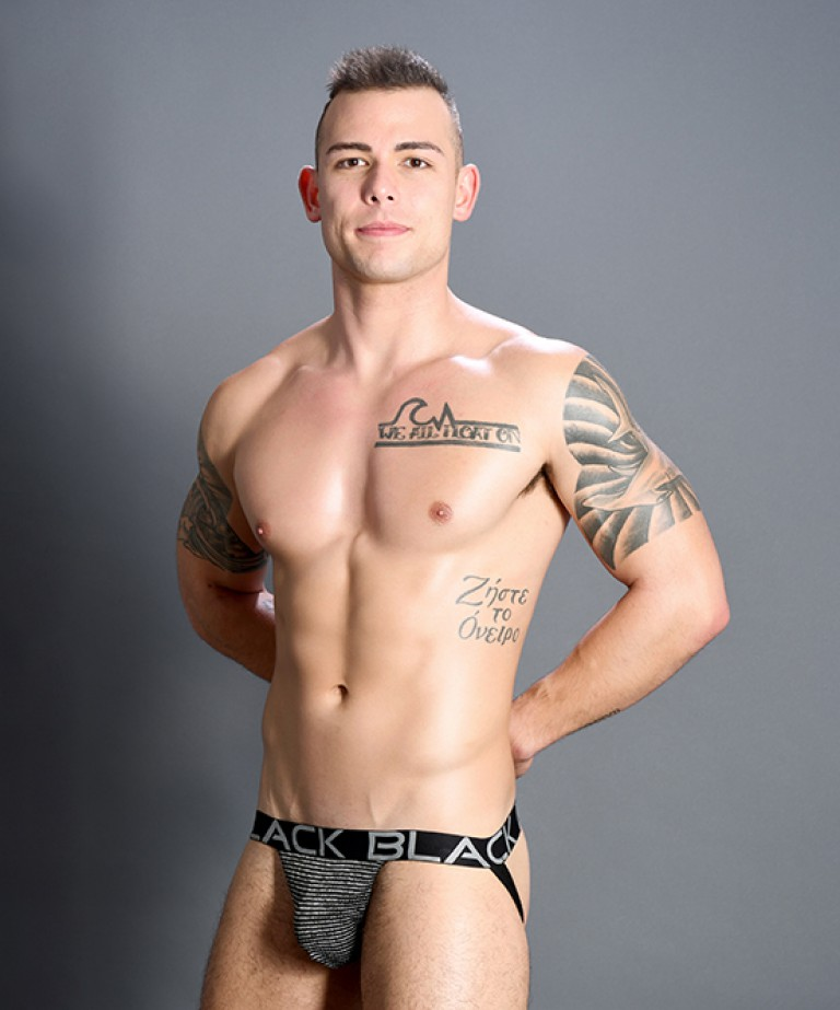 Black Collection Modern Stripe Jock